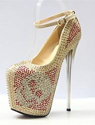 Золотистый - Женская обувь - Для вечеринки / ужина - Дерматин - На шпильке - На каблуках / На платформе / С круглым носком -Обувь на