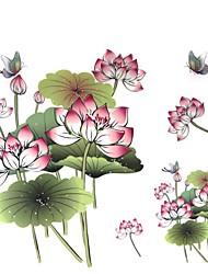 1 peças impermeáveis colar multicolorido lotus borboleta cor de volta padrão adesivos tatuagem