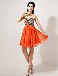 A-line Sweetheart Knee-length Evening Dress