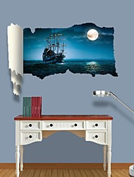 3D Wall Stickers Wall Decals, Ghost Ship Decor Vinyl Wall Stickers