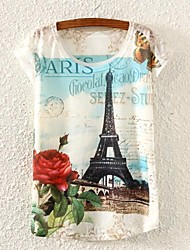 Women's Eiffel Tower Print T-shirt