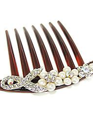 douce alliage multicolore peignes de cheveux pour les femmes (blanc) (1 pc)