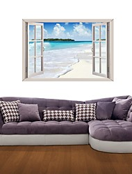 3D Wall Stickers Wall Decals, Ocean View Decor Vinyl Wall Stickers