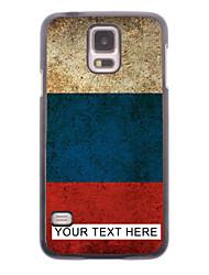 caja del teléfono personalizado - caja de metal ruso bandera diseño para i9600 Samsung Galaxy S5