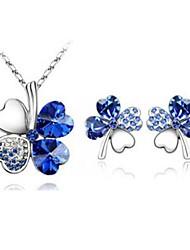 Lucky clover pendant + necklace set (1 set)