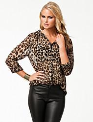 la moda de tytwomen sexy vestido todo partido leopardo