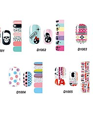 (Motif assortis) de 14pcs belle style cartoon nail art Stricker série d