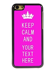 Personalized Case Rose Keep Calm Design Metal Case for iPhone 5C