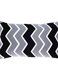 "Modern 12x20"" Rec Striped Pillow Cover/Pillow With Insert"