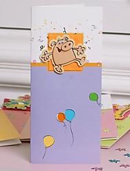 Children's Cartoon Animals CARDS Greeting Card(10*22.3cm)