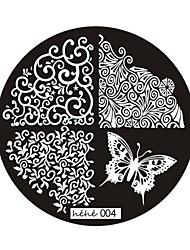 Стильные плиты, шаблоны с узором для декоративного маникюра, № 4