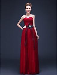 Vestito - Rosso Sera Tubino Cuore A Terra Chiffon