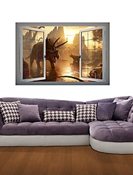 3D Wall Stickers Wall Decals, Dinosaur World Decor Vinyl Wall Stickers