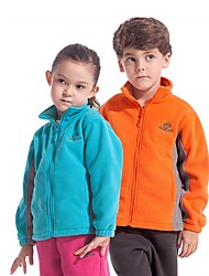Outdoors Kid's Polyester Orange Blue and Red Colors Windproof Fleece Jackets