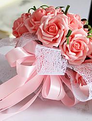 rosa rosa ramo de la boda