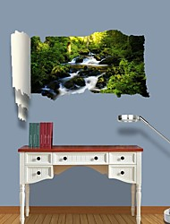 3D Wall Stickers Wall Decals, Mountain Spring Water Decor Vinyl Wall Stickers