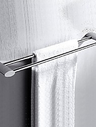 Chrome finished Solid Brass  Double Towel Bar