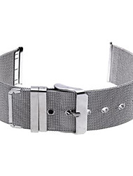 24 millimetri durevole argento orologio in acciaio perno cinturino fascia fibbia regolabile
