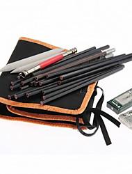 20шт эскиз карандаши +2 ластик +3 бумаги рисунок пером установить с мешком детей подарок на день рождения