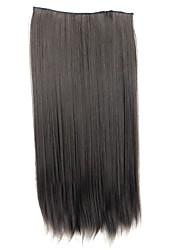 24 polegadas 120g longo clipe reta sintético em extensões de cabelo com 5 clips