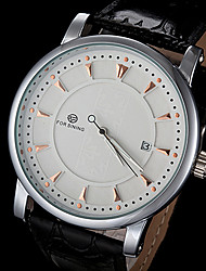 Men's Watch Automatic self-winding Skeleton Watch Calendar Leather Band Wrist watch
