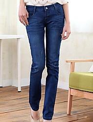 Women's Stretch Denim Pencil Pants Feet Pants