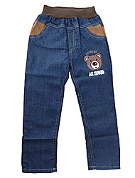 Girl's Polyester/Cotton Jeans , All Seasons