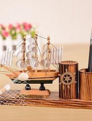 """5.9 """"h estilo moderno veleiro madeira colecionável (entrega aleatória)"""