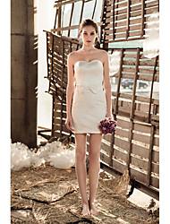 Short/Mini Short / Mini Wedding Dress - Sweetheart Satin