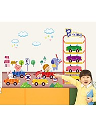 Wall Stickers Wall Decals, Style Cartoon Car PVC Wall Stickers