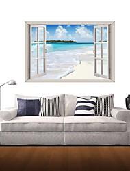 Pegatinas de pared de etiquetas de la pared 3d, sol playa decoración vinilos adhesivos