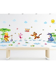 Wall Stickers Wall Decals, Style Winnie the Pooh Water Park PVC Wall Stickers