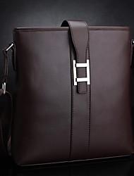 New winter men's leather messenger bag leather shoulder bag casual wave packet