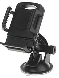 h01 180 degrés titulaire rotation ventouse avec c66 4 ~ 5,4 pouces pince support arrière pour iphone4, 5, 5s (noir)