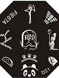 Nail Art Stempel Stamping Schablone Platte d Serie no.21