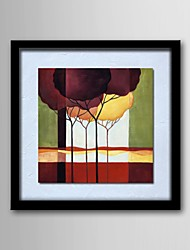 Oil Painting Modern Abstract Scenery Hand-Painted Natural Linen Solid Wood Frame Frameless Paintings