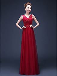 Formal Evening Dress Sheath / Column Straps Floor-length Chiffon with