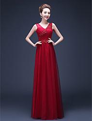 Formal Evening Dress - Plus Size Sheath/Column Straps Floor-length Chiffon