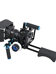 4 IN1 DSLR Rig kit 1PC shoulder mount rig 1PC Matte Box 1PC follow focus 1PC Dslr cage for Cameras & Video Camcorders