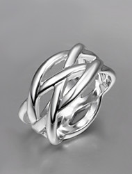 2016 Cheaper Mesh Fashion Women 925 Sterling Silver Statement Ring