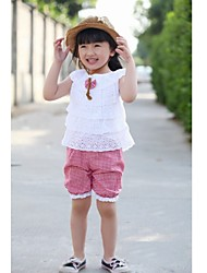 Girl's Cotton Clothing Set , Summer Short Sleeve