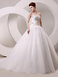 Ball Gown Wedding Dress Chapel Train / Floor-length Sweetheart with
