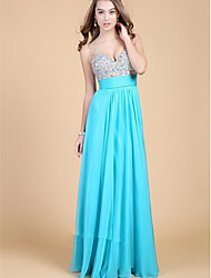 Knee-length Chiffon Bridesmaid Dress Sheath / Column One Shoulder with