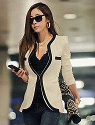 Leto Women's Casual Fitted Suit Blazer