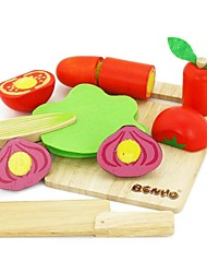 BENHO Rubber Wood Vegetable Set Wooden Education Role Player Toy