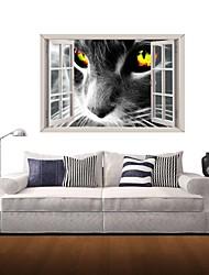 Adesivos de parede adesivos de parede 3D, uma parede de decoração vinil gato preto adesivos