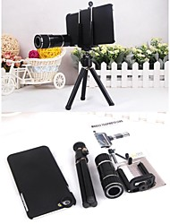 4X-12X Zoom Plastic Shell Magnetic Telephoto Camera Lens+Tripod for iPhone 6 Plus