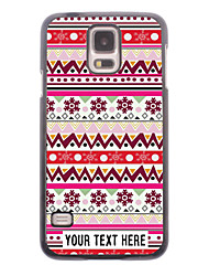 caja del teléfono personalizado - caso del diseño del copo de nieve de metal para i9600 Samsung Galaxy S5