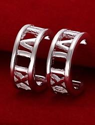 SSMN Women's  Silver Plate Earrings