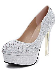 Women's Shoes Round Toe Stiletto Heel Pumps with Crystal Wedding Shoes More Colors available